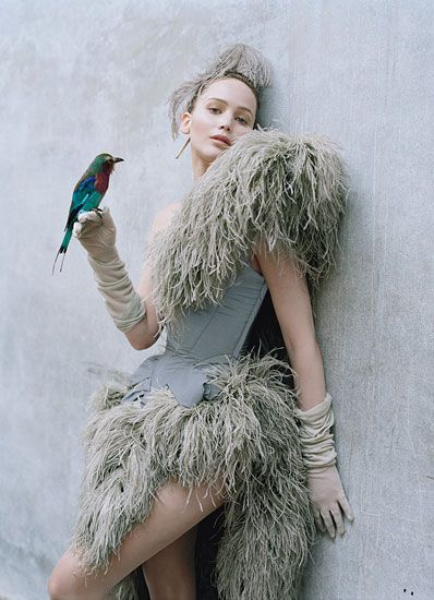 These are incredible; Tim Walker never seizes to amaze me - Jennifer Lawrence for  W magazine
