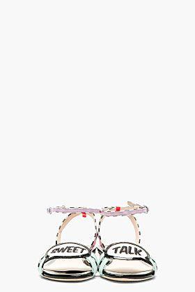 SOPHIA WEBSTER Pink & Aqua Ellen Sweet Talk Sandals