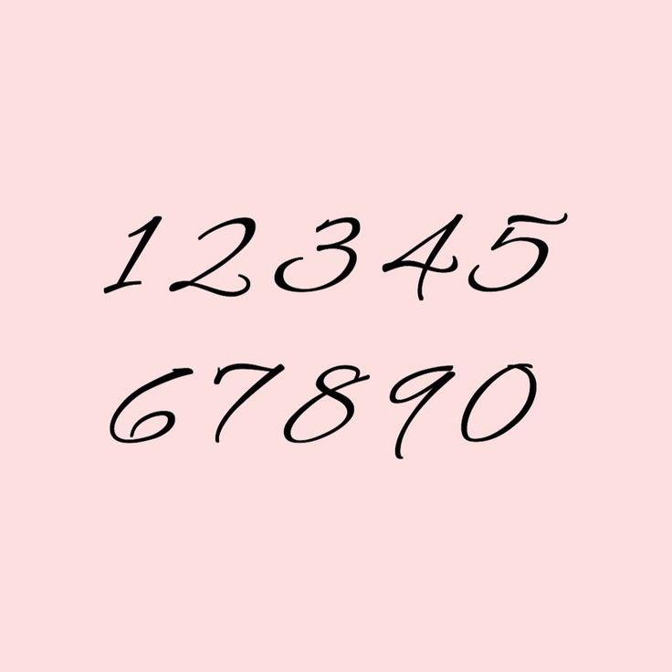 テーブルナンバー作りに役立つ 数字の見た目がおしゃれなフォント集 15字体 Marry マリー フォント 数字デザイン 花のロゴ