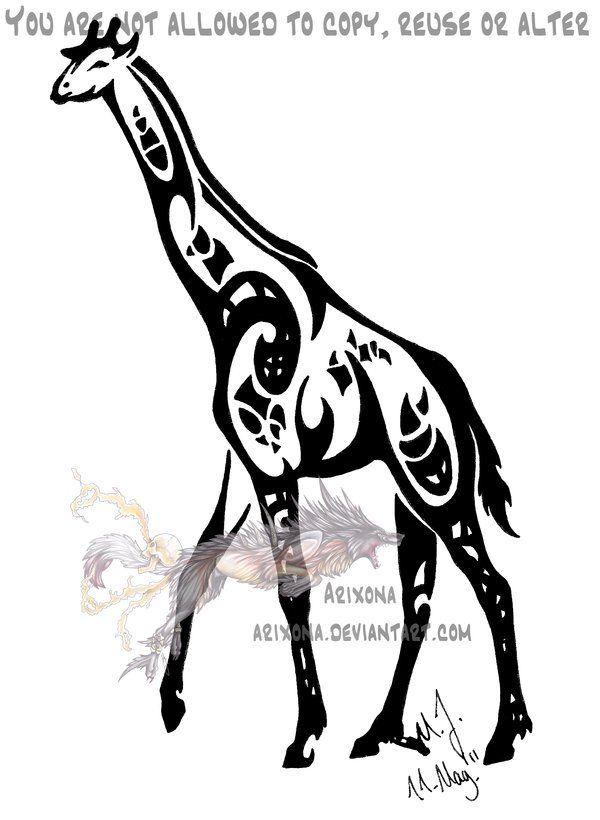 Tribal giraffe tattoo - photo#34