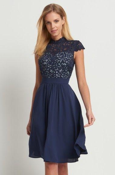 98de6e0f120 Orsay blaues blumenkleid – Modische Kleider in Europa
