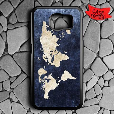 World Grunge Map Samsung Galaxy S6 Black Case