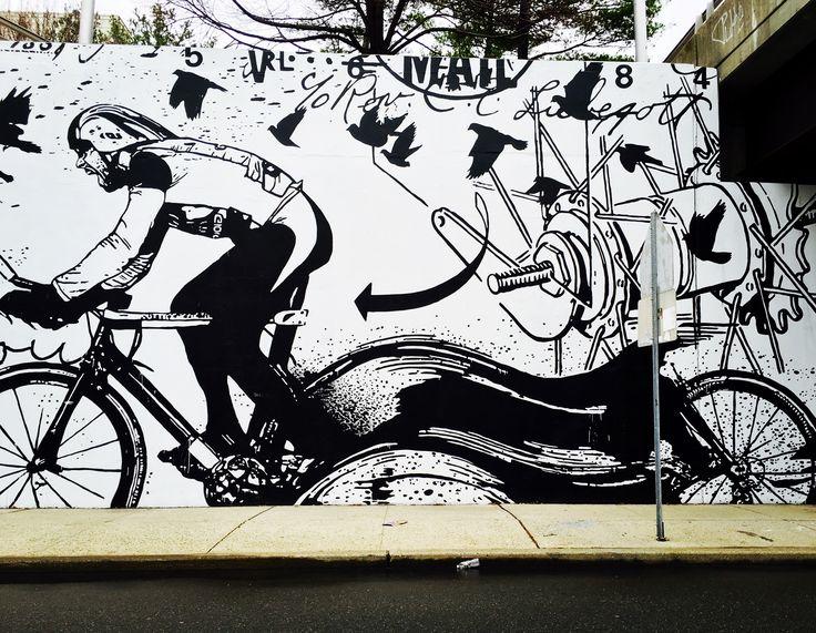 Image result for street art jersey city bike
