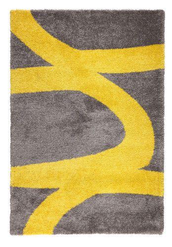 Tapis AARON - BUT, jaune et gris ou noir et gris