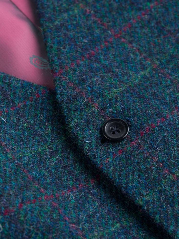 Harris Tweed Waistcoat in Marine Blue - Only 100% wool tweed fabric, hand woven on Lewis, Harris, Uist and Barra can bear the name Harris Tweed and these garments bear it with pride. We have carefully created four stunning colour and pattern combinations, which draw inspiration from the flora and fauna of the Outer Hebrides to make these bold, eye-catching Harris Tweed waistcoats.