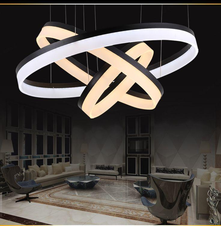 Из светодиодов подвесные светильники лампы гостиной фары современный ресторан подвесные светильники мода круг освещение из светодиодов 6000 К / 3000 К черный / серебро, принадлежащий категории Подвесные светильники и относящийся к Лампы и освещение на сайте AliExpress.com | Alibaba Group