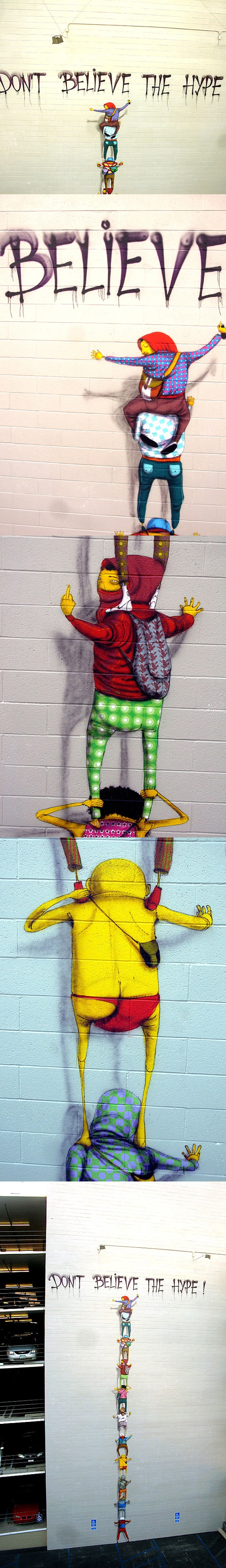 ..._Os Gêmeos, Don't Believe The Hype, San Diego by the Brazilian twin brothers and street artists Os Gêmeos