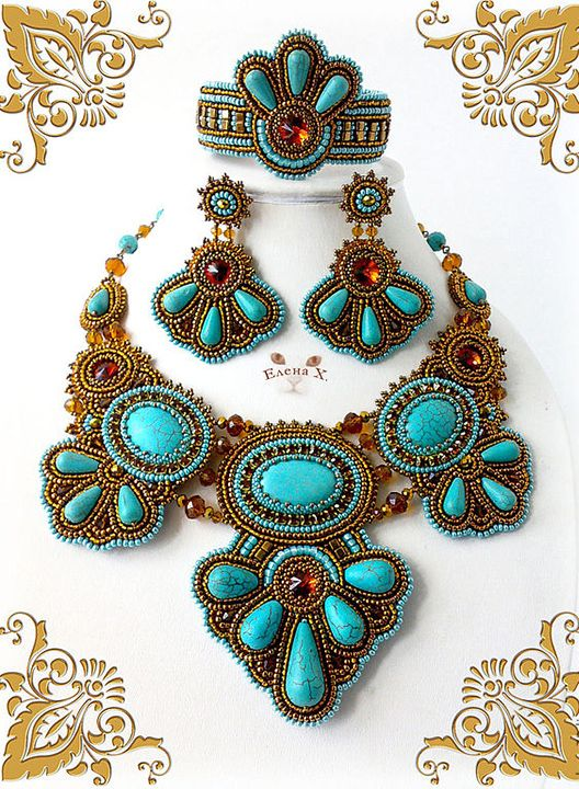 Beautiful jewelry by Elena Hmelevskaya | Beads Magic