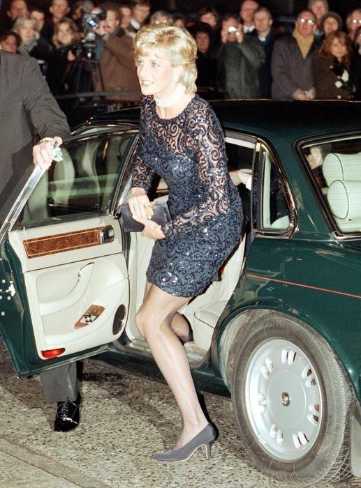 Princess Diana arriving at the 'La Boheme' Opera Gala Performance, Royal Albert Hall, London in 1996