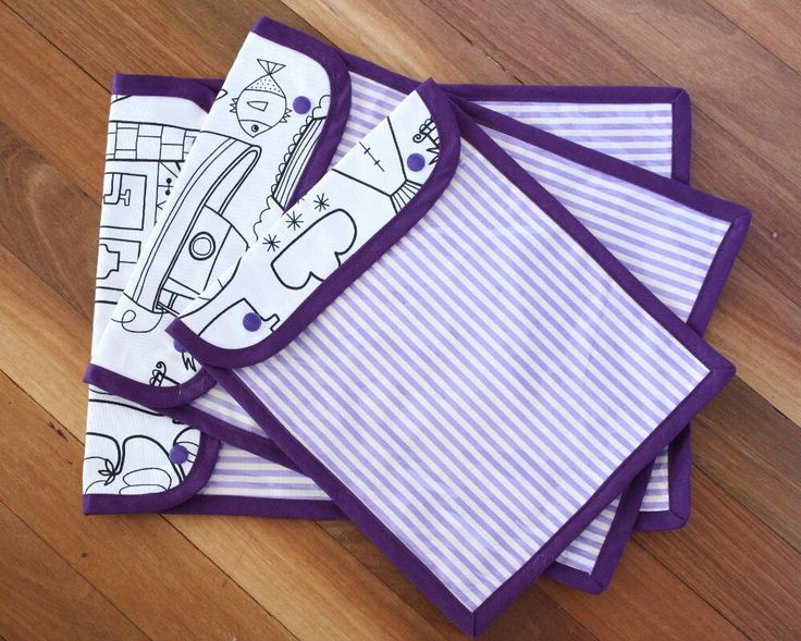 Handmade Puzzle Pouch with see through vinyl cover - 26 x 34cm (10 x 13 inches) - Black and white   Purple stripe   Toy storage by LilSisandtheGuru on Etsy