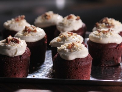 Bobby's Red Velvet Cupcakes martins b-day fave!