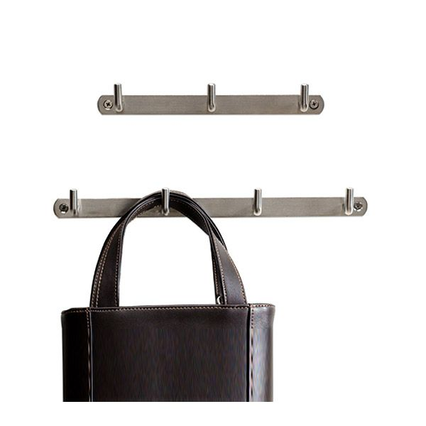 Strong, good looking help around the home or office has never been so affordable.  Our Stainless Steel Deco 3- and 4-Hook Racks are constructed to hold almost anything you can throw at them - towels, robes, purses, backpacks, umbrellas, caps, coats, jackets, or totes.  The timeless, no-nonsense design works in any environment from the bath to the kitchen, the office to the mud room.  And because stainless steel won't rust, they're perfectly suited for use outdoors in the garage, by the…