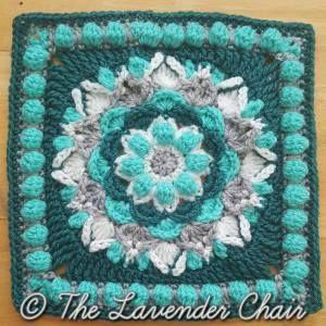 Free crochet pattern for dahlia mandala square http://crochetncreate.com/dahlia-mandala-square-crochet-pattern/ #crochetncreate #freecrochetpatterns