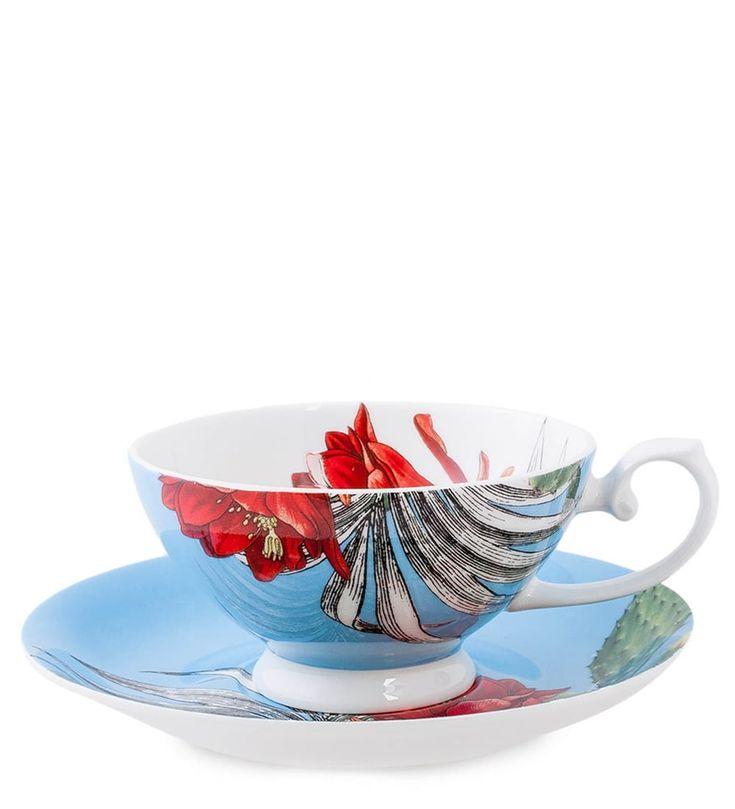 Чашка с блюдцем из костяного фарфора «Тропикана» синяя SL-16 (Stechcol)      Бренд: Stechcol (Китай);   Страна производства: Китай;   Материал: костяной фарфор;   Количество предметов: 2 шт;   Объем чашки: 340 мл;   Длина: 16,5 см;   Ширина: 16,5 см;   Высота: 7 см;   Вес: 0,34 кг;          #bonechine #chine #diningset #teaset #костяной #фарфор #обеденный #сервиз #посуда  #обеденныйсервиз #чайныйсервиз #чайныйнабор