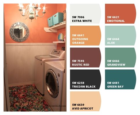 #chipit sherbet hues orange light blue aqua burnt orange Paint colors from Chip It! by @Sherwin-Williams