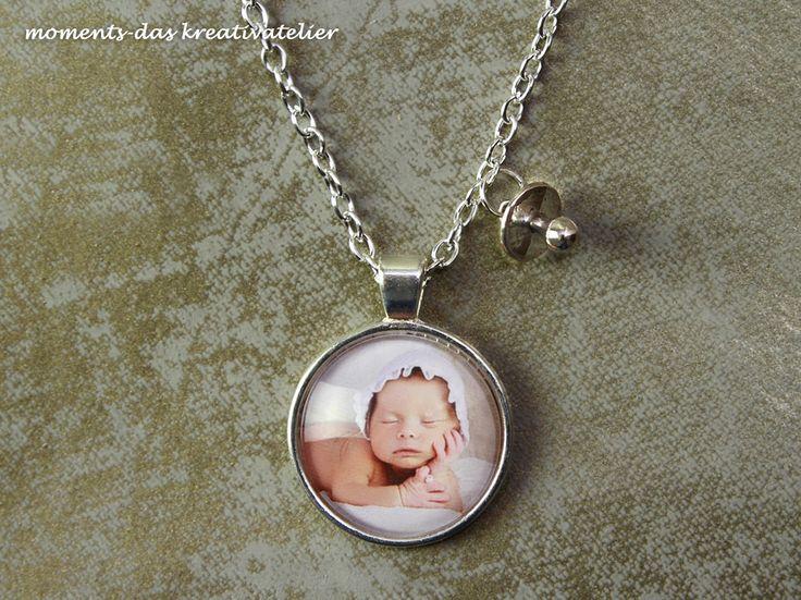 Zur Geburt: Personalisierte Kette ♥ Dein Foto ♥ - moments-kreativatelier