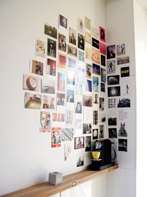 awesome wall decor ideas! sheet music, children's books, zodiac sign... love to try 'em!