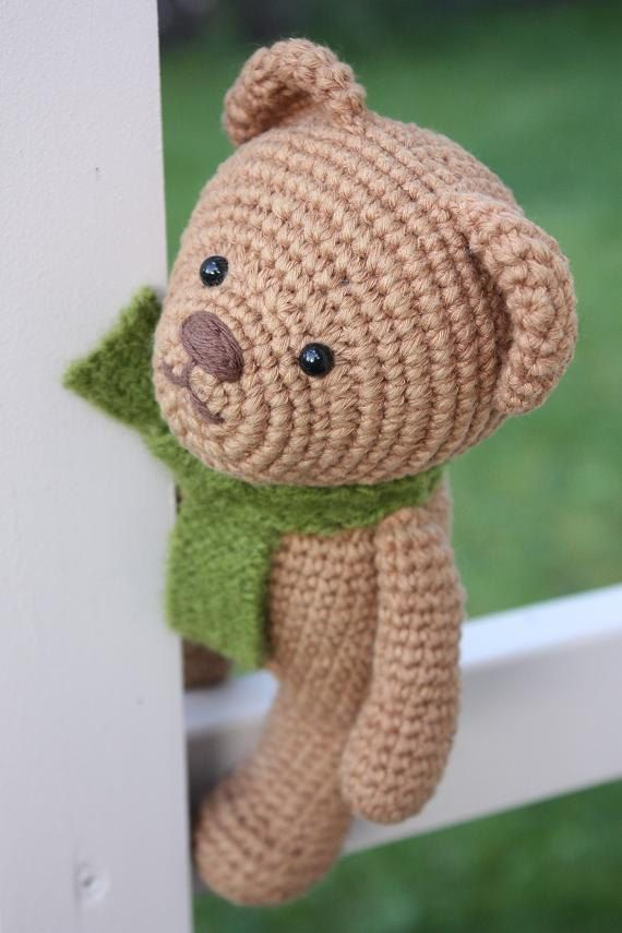 Amigurumi Bear Tutorial : PATTERN- Amigurumi Pattern - Crochet Teddy Bear Pdf ...