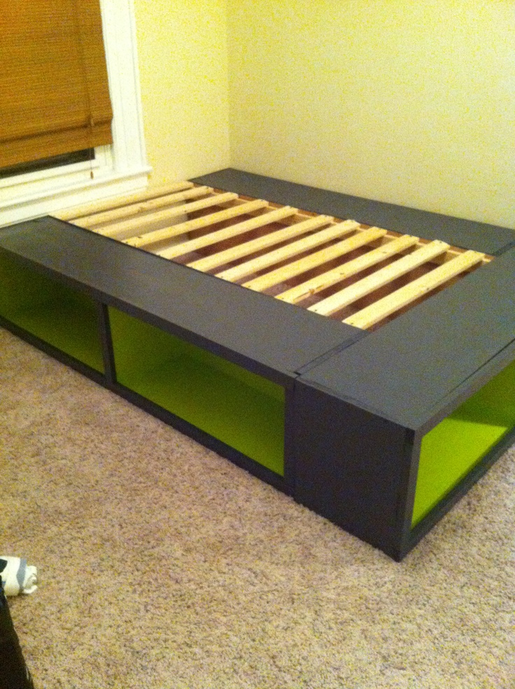 1000 images about platform beds on pinterest diy for Pallet platform bed with storage