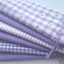 Bundle 6 fat quarters lovely lilacs  cotton material /fabric 18 x 22 inches