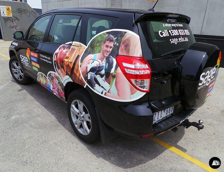 Toyota RAV 4 #vehiclewrap #SageInstitute