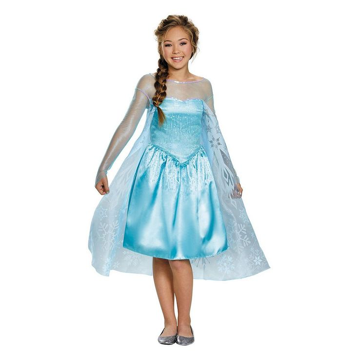 Disney's Frozen Elsa Tween Costume, Girl's, Size: 10-12, Blue