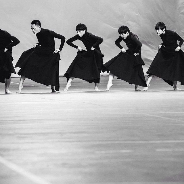 The TAO Dance Theater performing at @adidasy3 by Yohji Yamamoto #SS16 #PFW Photography @chloeledrezen