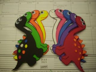 Read It Again!: Flannel Friday: A rainbow horde of dinosaurs