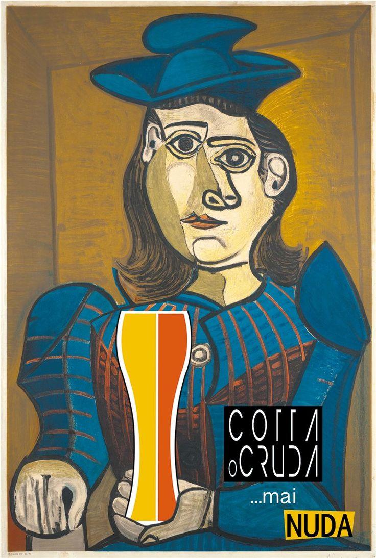 Donna con cappello blu - Pablo Picasso, per Cotta o Cruda... Mai Nuda! Continuate a seguirci per vedere quali altre opere d'arte bevono birra artigianale! #birra #beer #art #arte #picasso #divertente #joke #cool #funny #cottaocruda #evento #foligno