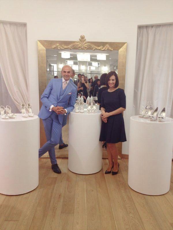 Alessandra Rinaudo and Enzo Miccio with their creations #fashion #nicolespose #shoes #mfw