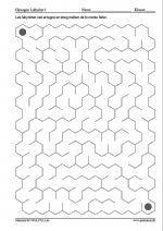 Labyrint lavet af sekskanter - 10x16
