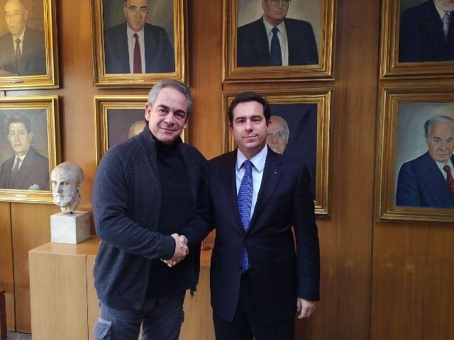 Με τον Πρόεδρο της Κεντρικής Ένωσης Επιμελητηρίων Ελλάδος, κ. Κωνσταντίνο Μίχαλο