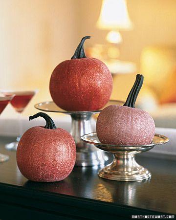 Martha Stewart glitter pumpkins
