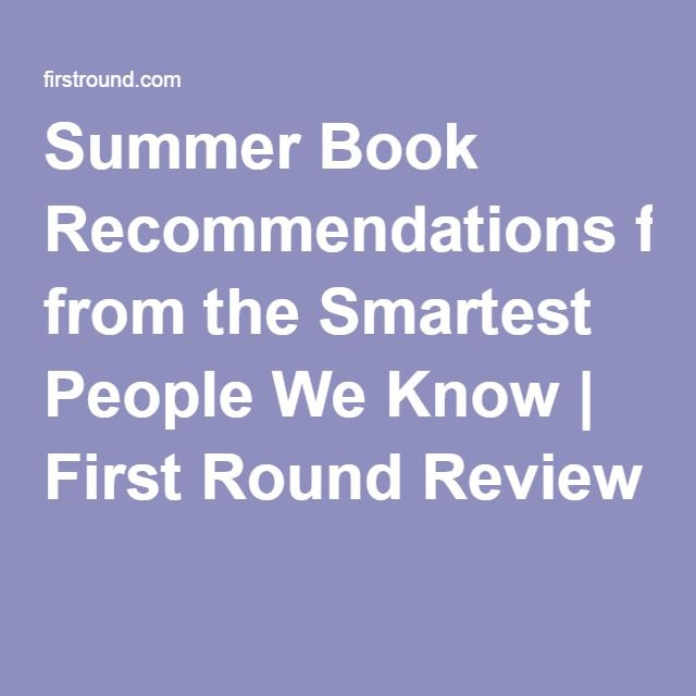 54 best books images on pinterest bill gates book lists and books summer book recommendations from the smartest people we know fandeluxe Choice Image