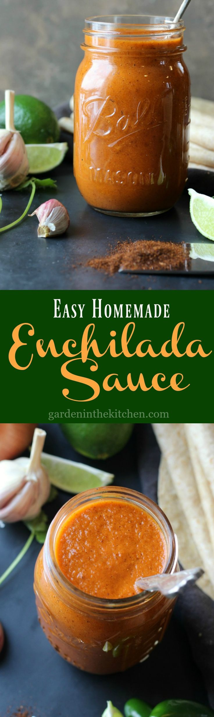 Easy Homemade Enchilada Sauce | gardeninthekitchen.com