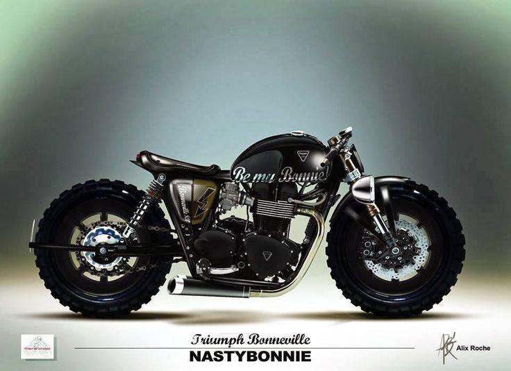 custom dirt-street motorcycle