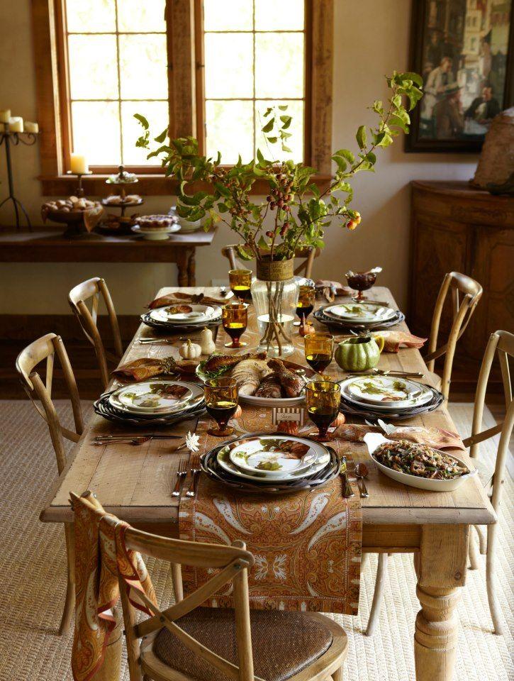 Williams Sonoma Harvest Table The Thanksgiving Table Pinterest