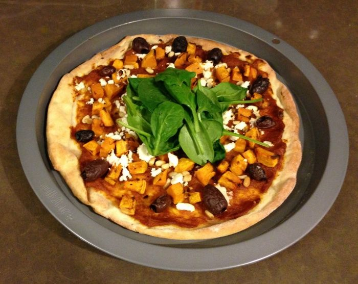 Meatless Monday - Pumpkin, Feta and Pine Nut Pizza