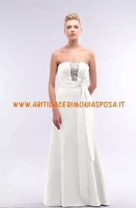 a buon mercato senza spalline di perline raso bianco abito da sposa 2012