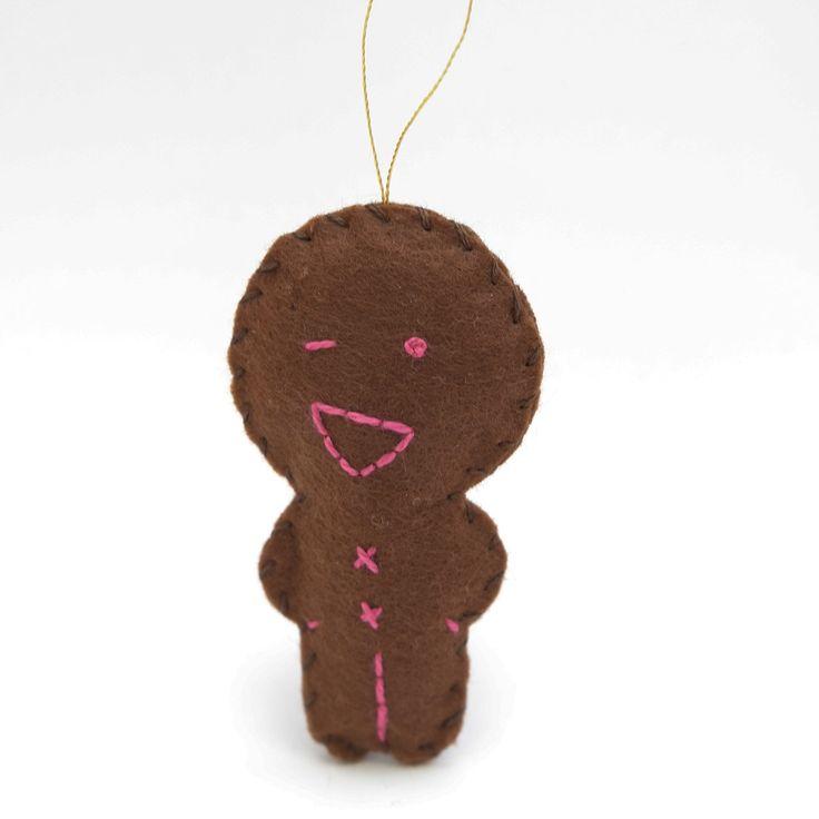 Flirty gingerbread - gingerbread man, christmas decor, christmas gift, christmas decoration, cute, adorable. by HalloweenOrChristmas on Etsy