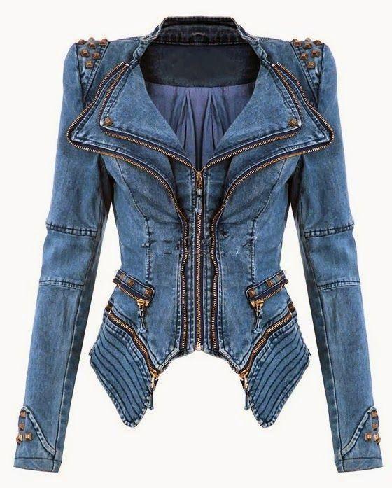 The Vogue Fashion: Slim Fit Shoulder Studded Jacket