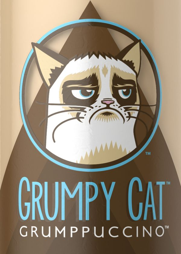 #grumpycat #coffee If we talk about coffee, how about some Grumppuccino!? :))  Source: http://www.behance.net/gallery/GRUMPY-CAT-COFFEE/10213357