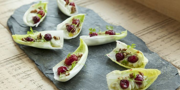 Bruno Loubet pipes rich Roquefort and walnut into a crisp, refreshing endive leaf to make a wonderfully simple canapé