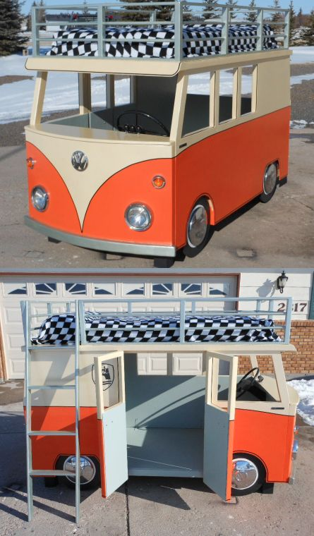 VW Bus Bunk Bed and Playhouse~Design/Images © Uptonb