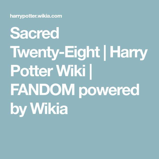 Sacred Twenty-Eight   Harry Potter Wiki   FANDOM powered by Wikia