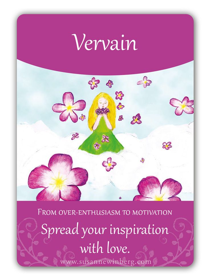 Vervain - Bach Flower Oracle Card by Susanne Winberg. Message: Spread you inspiration with love.