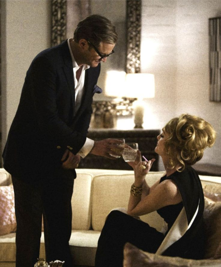 "Colin Firth y Julianne Moore en """"Un Hombre Soltero"" (A Single Man), 2009"