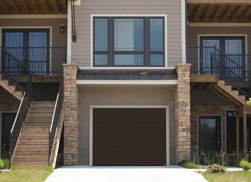 Garaga - Porte de garage Standard+, modèle uni, brun moka