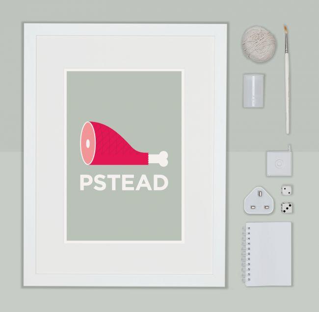 Pate Hampstead Neighbourhood Pun Art Poster Print