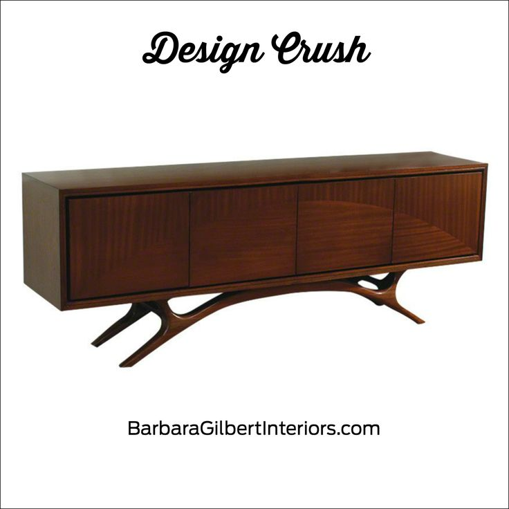 Midcentury Media Cabinet | Interior Design Dallas | Barbara Gilbert Interiors